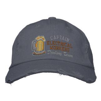 Boné Bordado Capitão Cerveja Bebendo Equipe Costume
