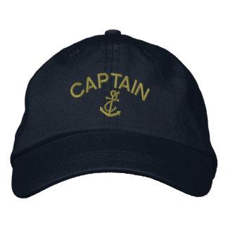 Boné Bordado Capitão Com Âncora