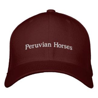 Boné Bordado Cavalos peruanos