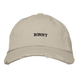 Boné Bordado Chapéu afligido de tipo de tela de algodão