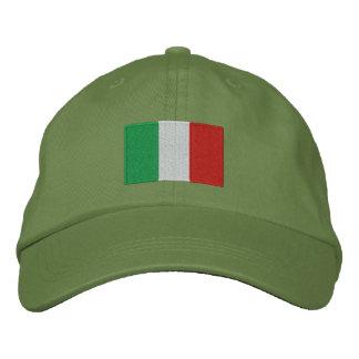 Boné Bordado Chapéu ajustável bordado bandeira de Italia