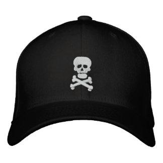 Boné Bordado Chapéu ajustável do crânio da rocha