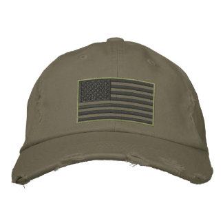 Boné Bordado Chapéu bordado bandeira Subdued dos E.U. das cores