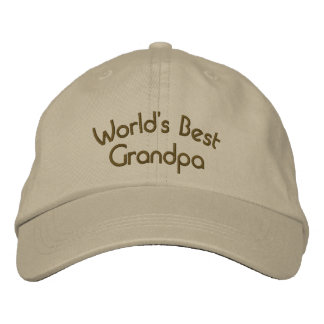 Boné Bordado Chapéu bordado bonito do melhor vovô do mundo