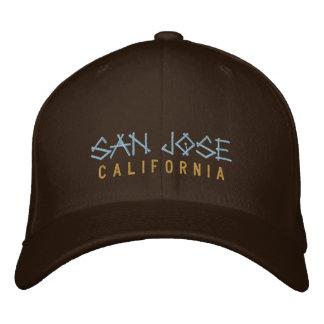 Boné Bordado Chapéu bordado Califórnia de San Jose no marrom