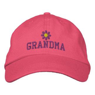 Boné Bordado Chapéu bordado das avó flor roxa