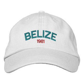 Boné Bordado Chapéu bordado de Belize 1981