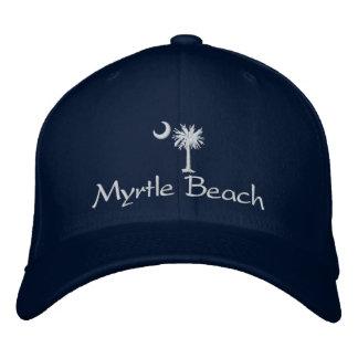 Boné Bordado Chapéu bordado de Myrtle Beach Palmetto branco