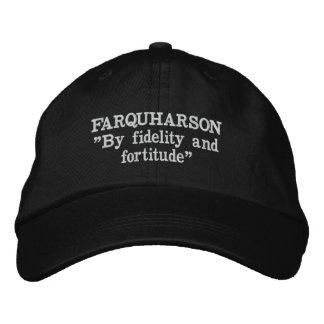 Boné Bordado Chapéu bordado divisa do clã de Farquharson