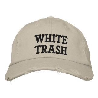 Boné Bordado Chapéu bordado do lixo branco