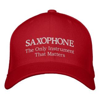 Boné Bordado Chapéu bordado do saxofone com slogan