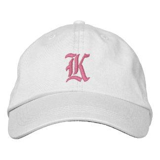 Boné Bordado Chapéu bordado monograma da letra K