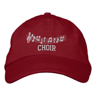 Boné Bordado Chapéu bordado música do coro