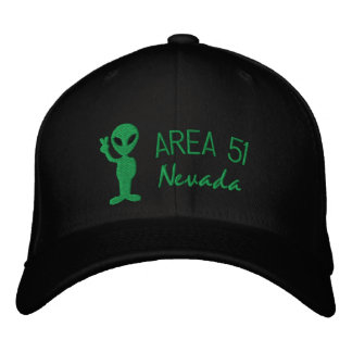Boné Bordado Chapéu bordado Nevada da área 51