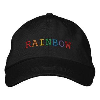 Boné Bordado Chapéu bordado palavra do arco-íris
