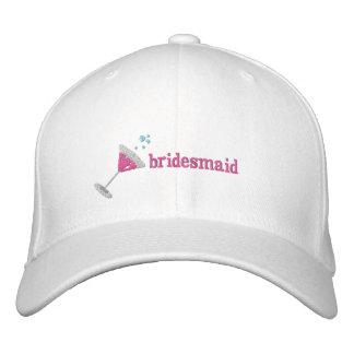 Boné Bordado Chapéu bordado personalizado Martini cor-de-rosa