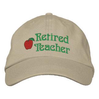 Boné Bordado Chapéu bordado professor aposentado