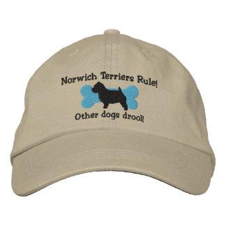 Boné Bordado Chapéu bordado regra dos terrier de Norwich