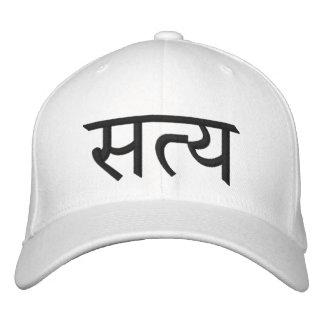 Boné Bordado Chapéu da ioga de Satya (verdade)