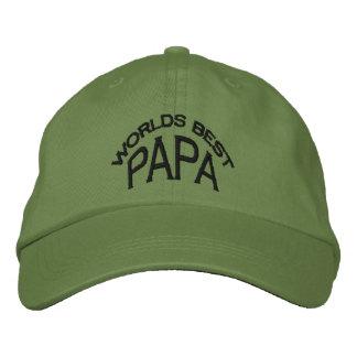 Boné Bordado Chapéu da papá do mundo o melhor (letras escuras)