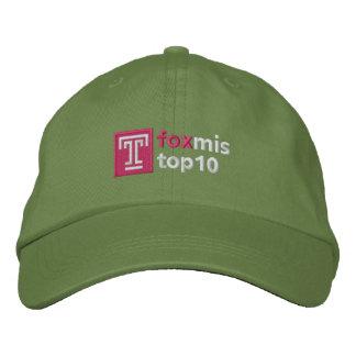 Boné Bordado Chapéu da parte superior dez