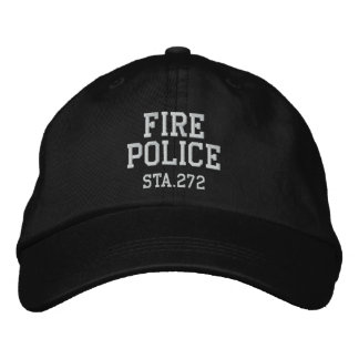 Boné Bordado chapéu da polícia do fogo