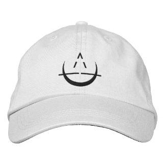 Boné Bordado Chapéu de basebol branco do símbolo da lua de