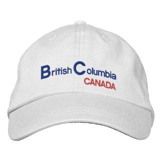 Boné Bordado Chapéu de British* Colômbia Canadá