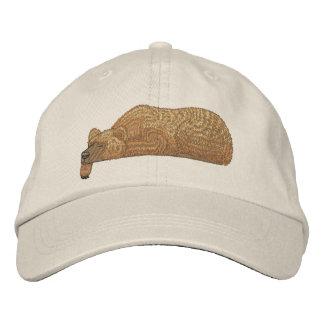 Boné Bordado Chapéu de coco do bolso do urso