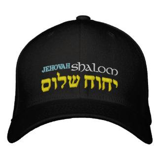 Boné Bordado Chapéu de Flexfit do hebraico de Jehovah Shalom