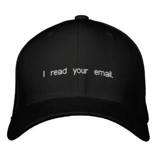 Boné Bordado Chapéu do cabouqueiro - eu li seu email