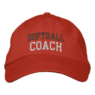 Boné Bordado Chapéu do treinador do softball do texto do carvão