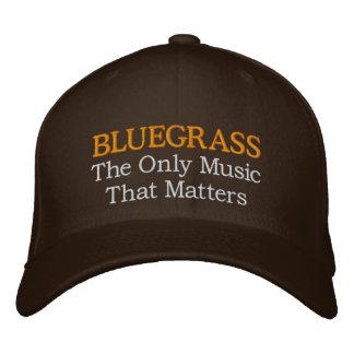 Boné Bordado Chapéu engraçado do Bluegrass do bordado