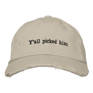 Boné Bordado Chapéu engraçado em um mundo tenso
