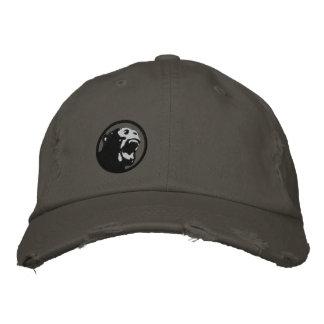 Boné Bordado Chapéu irritado de Monkee - preto/cinza escuro