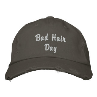 Boné Bordado Chapéu mau do dia do cabelo