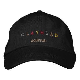 Boné Bordado Chapéu principal alegre da cabeça da argila