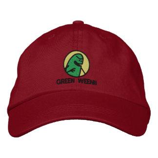 Boné Bordado Chapéu verde do logotipo de Weenii (de luxe)