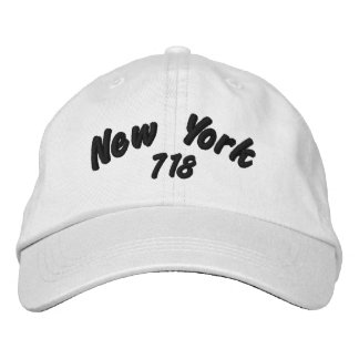 Boné Bordado Código de área de New York 718