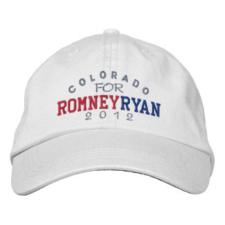 Boné Bordado Colorado Mitt Romney Paul Ryan 2012