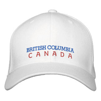 BONÉ BORDADO COLUMBIA BRITÂNICA, CHAPÉU DE CANADÁ