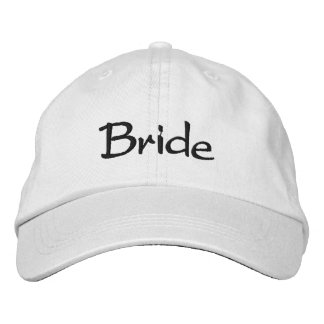 Boné bordado da noiva