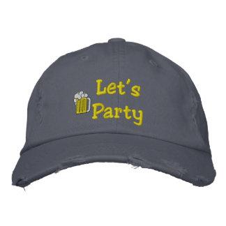 Boné Bordado Deixe-nos Party o chapéu bordado