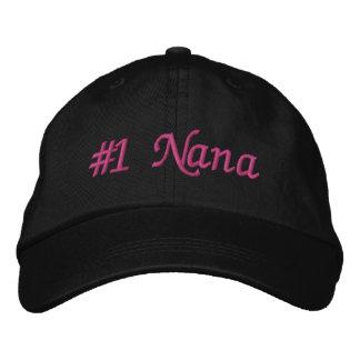 Boné Bordado Dia das mães de #1 Nana (número um Nana)