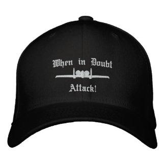 Boné Bordado Do ataque A-10 do golfe do chapéu W/Call do sinal