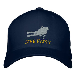 Boné bordado do MERGULHADOR mergulho engraçado
