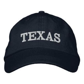 Boné Bordado Dos azuis marinhos simples da palavra de Texas cor