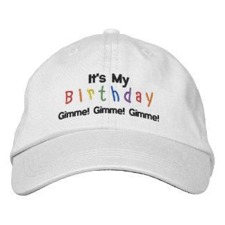 Boné Bordado É meu aniversário, Gimme! Gimme! Gimme!