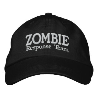 Boné Bordado Equipe da resposta da manifestação do zombi