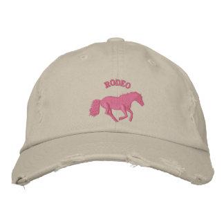 Boné Bordado Equitação cor-de-rosa do rodeio das meninas